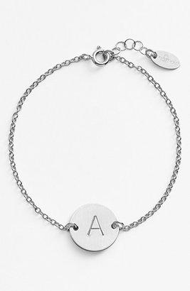 Women's Nashelle Sterling Silver Initial Disc Bracelet $80 thestylecure.com