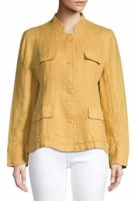 Eileen Fisher Classic Linen Utility Jacket