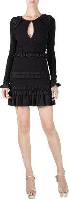 Nina Ricci Ruffle Tier Mini Dress