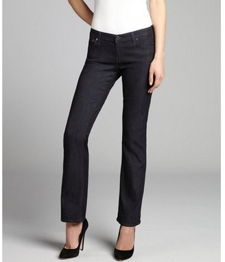 AG Adriano Goldschmied navy stretch denim 'The Angelina' petite boot cut jean