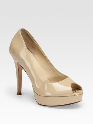 Cole Haan Mariela Air Peep-Toe Patent Leather Pumps