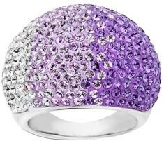 Lord & Taylor Sterling Silver Faded Tanzanite Colored Crystal Ring