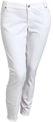 Old Navy Women's Plus The Rockstar White Skinny Jeans