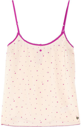 Juicy Couture Midnight Twinkle printed satin camisole
