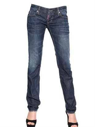 DSquared Slim Washed Cotton Denim Jeans