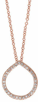 Effy 14K Rose Gold Circle Pendant Necklace with 0.16TCW Diamonds