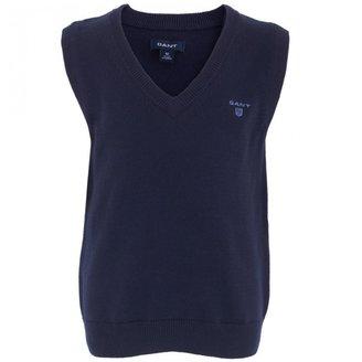 Gant Navy Knit Vest