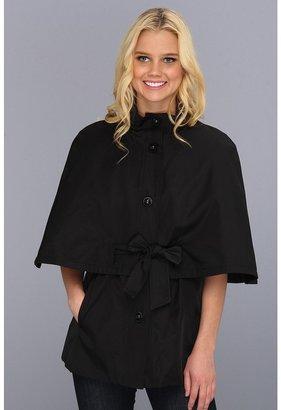 Betsey Johnson Belted Cape Jacket (Black) - Apparel