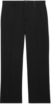 Burberry Cut-out Back Wool Wide-leg Trousers