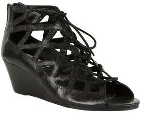 Steve Madden Nittella Leather Wedge Sandals