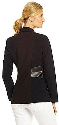 Calvin Klein Luxe Faux-Leather-Detail Jacket