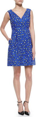 Kate Spade Dawson Cyber Cheetah & Leopard-Print Dress