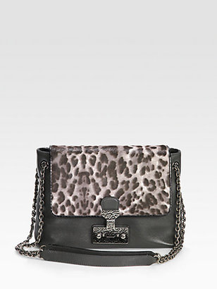 Marc Jacobs Calf Hair & Leather Shoulder Bag
