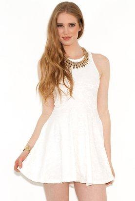 MinkPink First Love Skater Dress in White