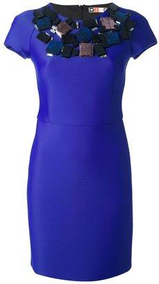 MSGM embellished neoprene dress