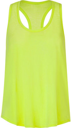 Splendid Neon Yellow Vintage Whisper Racerback Top