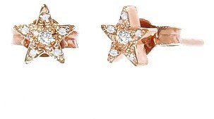 Jennifer Meyer Diamond Mini Star Studs - Rose Gold
