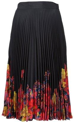 Erdem pleated print skirt