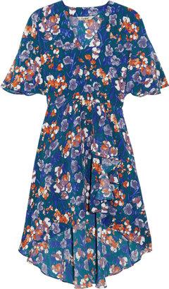 Tucker Printed silk crepe de chine dress