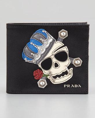 Prada Nylon Skull Wallet