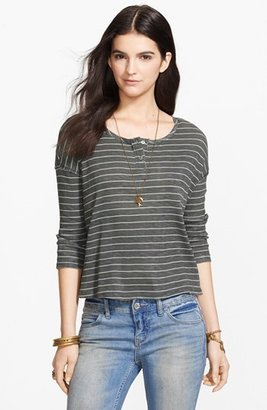 Free People 'Garvey' Stripe Cotton Henley