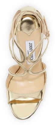 Jimmy Choo Lang Metallic Strappy Sandal