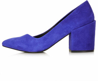 Topshop Joe block heel court shoes