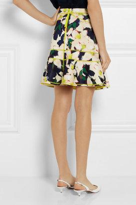 J.Crew Surf floral-print stretch-scuba mini skirt