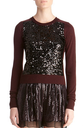 Diane von Furstenberg Maryse Bis Sweater In Black/obsidian