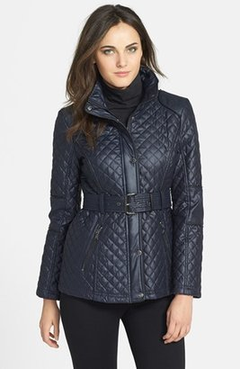 GUESS Belted Quilted Jacket