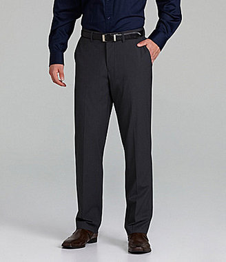 Murano Flat-Front Zac Check Dress Pants