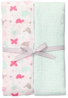 Carter's 2-Pack Muslin Swaddle Blanket