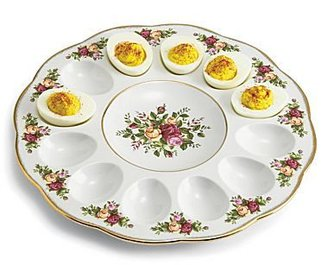 Royal Albert Old Country Roses Deviled Egg Plate