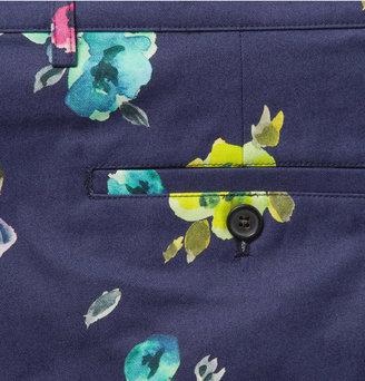 Raf Simons Flower-Print Cotton-Twill Shorts