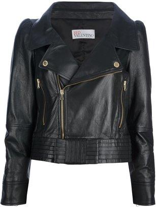 RED Valentino bow detail biker jacket