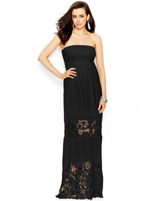 GUESS Strapless Lace Dress