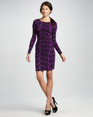 Tracy Reese Ruched Long-Sleeve Dress