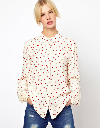Jaeger Boutique By Ladybird Scallop Collar Blouse
