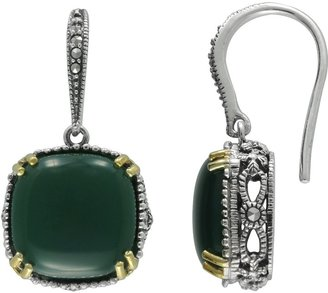 Swarovski Lavish By Tjm Lavish by TJM 14k Gold Over Silver & Sterling Silver Agate Drop Earrings - Made with Marcasite