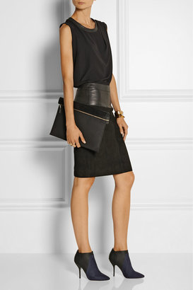 Jimmy Choo Deluxe nubuck and leather ankle boots