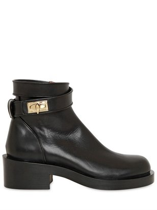 Givenchy 50mm Shark Lock Calfskin Low Boots