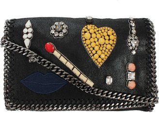 Stella McCartney Crossbody Embroidered Clutch