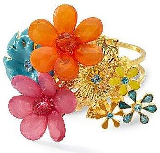 JCPenney Mixit® Flower Cuff Bracelet