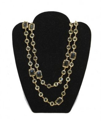 Chanel excellent (EX Citrine Crystal Sautoir Long Chain Necklace