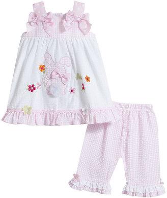 Bonnie Baby Baby Girls' 2-Piece Seersucker Dress & Pants Set