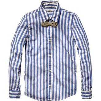 Scotch & Soda Kids - Boy's Check and Stripe Series with Bowtie - Blue Stripe