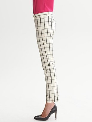 Banana Republic Sloan-Fit Windowpane Slim Ankle Pant