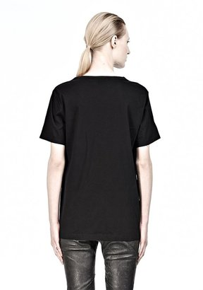 Alexander Wang Supima Jersey Tee With Leather Pocket