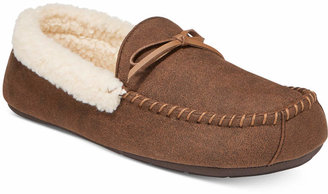 Club Room Men's Slippers, Aaron Sherpa-Lined Moccasins $45 thestylecure.com