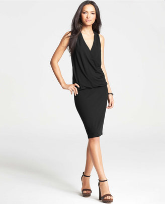 Ann Taylor Crossover Blouson Dress